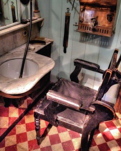 An old school barbershop